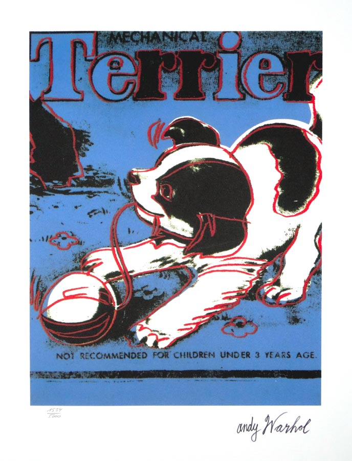 andy warhol serigraphie pop art terrier