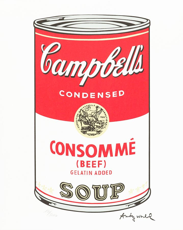 andy warhol campbell soup pop art sérigraphie
